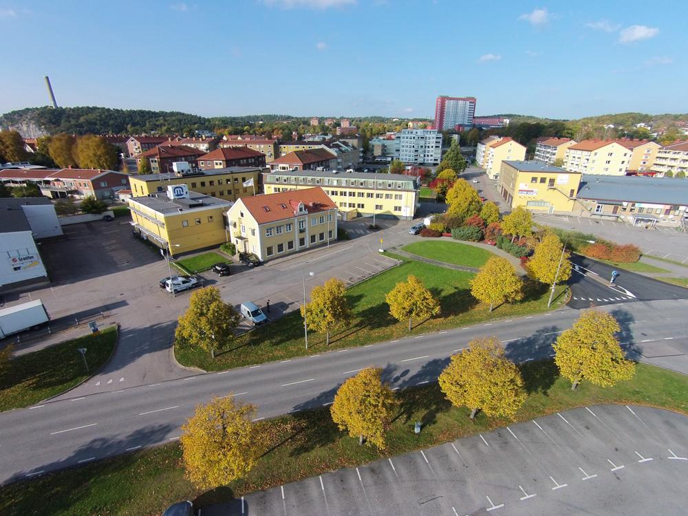 I bakgrunden är Sjukhuset, och till höger i bild är Colorama